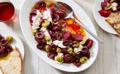 Grilled Beet Salad with Burrata and Cherries