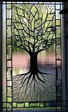 Tree of Life stained glass work