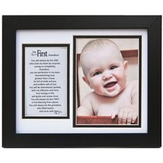 First Grandson Frame gift idea for grandma and grandpa :))