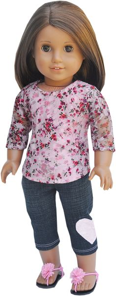 American Girl Clothes  Pink Floral Top by LoriLizGirlsandDolls, $26.00