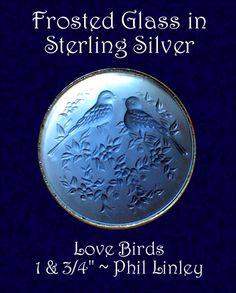 Image Copyright by RC Larner ~ Modern Satin Glass Birds in Silver Button ~ R C Larner Buttons at eBay  http://stores.ebay.com/RC-LARNER-BUTTONS