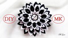 Многослойный цветок Канзаши / Вариант сборки, МК / DIY Layered Kanzashi ...