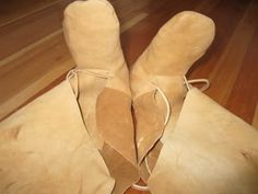 How to make one piece moccasins