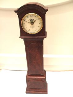 "Kienzle Quartz Germany Miniature Battery Movement Grandfather Clock 14""h 3.5""w"