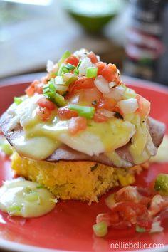 Tex Mex Eggs Benedict; oh my goodness, so good!  #eggsbenedict #breakfast