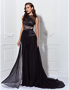 Sheath/Column Jewel Sweep/Brush Train Chiffon Evening Dress inspired by Anna Kendrick. Get amazing discounts up to 70% Off at Light in the Box with Coupon and Promo Codes.
