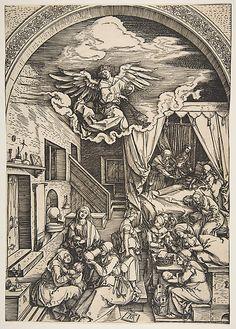 Birth of the Virgin Albrecht Dürer (German, Nuremberg 1471–1528 Nuremberg)