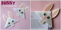 Marcador de página feito com coelho, boa idéia para a Páscoa.