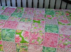 Lilly Pulitzer Throw - Pink and Green.