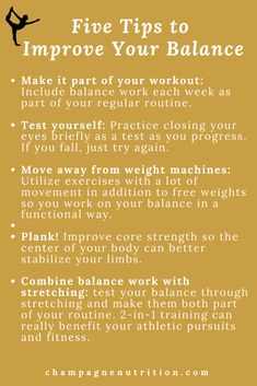 There are some really easy steps you can take to weave balance naturally into your routine. My tips here plus other info you need to improve your workout routine NOW.