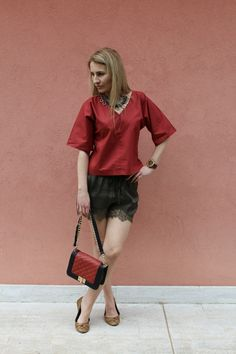 Trench Collection by Sonia Verardo: Lace shorts OOTD