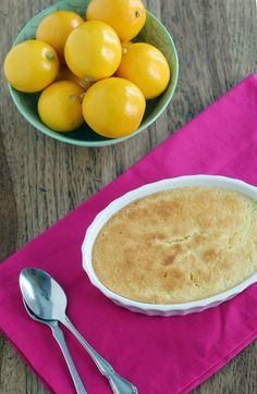Meyer lemon pudding cake   @VintageMixer