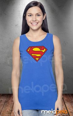 NEW  Women's Cotton SuperWoman SuperGirl Tank Top by MelaPelaClothing