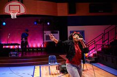 "Left to right: Portia as the Selector and Cyndii Johnson as Luann in CPG production of ""How We Got On"" during the 2014-2015 season. © 2014 Roger Mastroianni #theatre #acting #hiphop #80s #act #cleveland #cleveplayhouse"