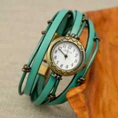 Part watch, part bracelet, and all style! Get the tutorial for making your own layered leather watch with beads.