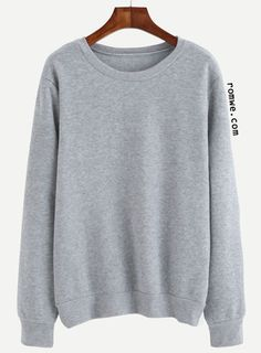 Heather Grey Letter Print Pullover Sweatshirt