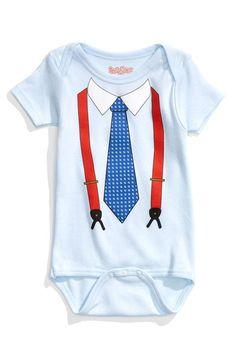 Too cute! Suspenders and tie bodysuit.