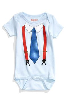 Too cute! Suspenders and tie bodysuit.