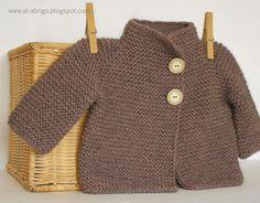 Zen Cardigan-Muster von al-coat – Baby Kleidung Baby Cardigan, Baby Pullover, Cardigan Pattern, Knitting For Kids, Baby Knitting, Baby Patterns, Knitting Patterns, Baby Cocoon, Knitted Baby Clothes