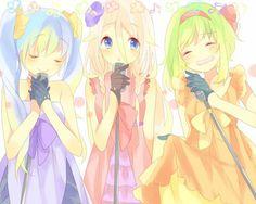 Miku,IA,and Gumi singing trio
