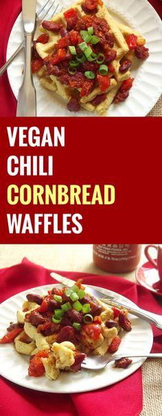 Vegan Chili Cornbread Waffles