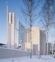 Myyrmaki Church in Helsinki by Juha Leiviska.