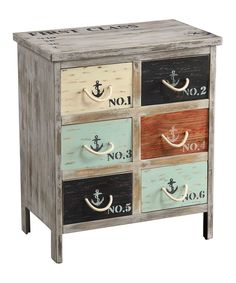 *cabinet painting inspiration, minus the nautical touch* Loving this Multicolor Nautical Chest on #zulily! #zulilyfinds