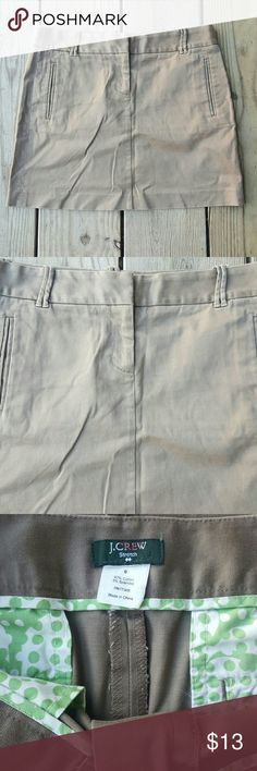 J. Crew skirt Tan,  cotton/spandex, size 6 J. Crew Skirts Mini
