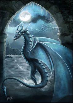Moonstone Dragon by *AmberCrystalElf on deviantART