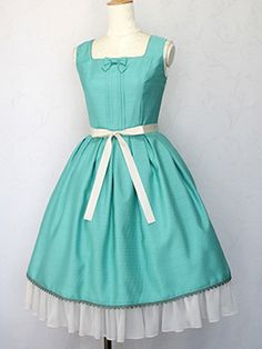 シフォンフリルジャンパースカート