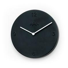 Ceramiczny zegar - czarny Kähler Design