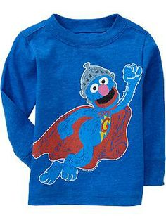 Wyatt: Sesame Street® Super Grover Tees for Baby | Old Navy