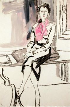Pink scarf. Illustration by Jack Potter