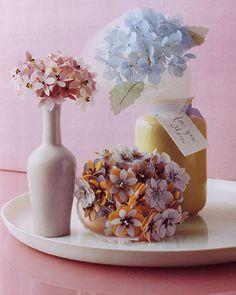 Fabric-Punched Bouquet @ marthastewart.com