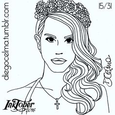 #InkTober Day 15: Lana Del Rey ✒ #InkTober2016 #drawing #illustration #illustrationoftheday #ink #inkdrawing #handmade #sketch #sketching #art #fanart #LanaDelRey #singer #actress #girl #sexy #beautiful #portrait https://www.facebook.com/diegocelmailustrador/