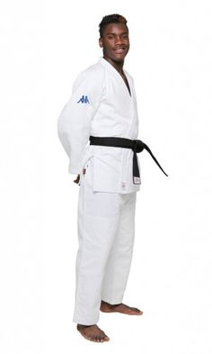 Kappa Atlanta Judo gi  IJF Approved (2015) 80% Cotton and 20% Polyester Reverse lining and back seam Pants with Drawstring Reinforced stitching in jacket and knees Weight:  750 g/m2 Shrinkage Rate: 7% No belt included Available in Blue and White