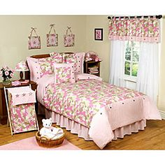 Shhh!  Look what my little Em is getting for her birthday!!!  She is going to love it!   @Overstock - This unique Pink Camo bedding set by JoJo Designs will help you create an awesome room for your little lady soldier. This bedding set has appliqued and embroidered stars throughout the set to create a great look.http://www.overstock.com/Bedding-Bath/Military-Camouflage-Army-4-piece-Girls-Twin-size-Bedding-Set/5298531/product.html?CID=214117 $99.99