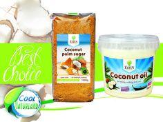 CocoPack - Kokosöl 1000ml + Kokosblütenzucker 1000g