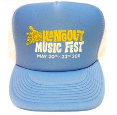 Hangout Fest Trucker Hat - Light Blue - $15.00
