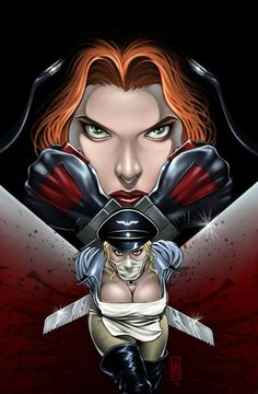 cover to Novembers BloodRayne; Revenge of the Butcheress BloodRayne vs Butcheress Cover Comics Girls, A Comics, Comic Books Art, Comic Art, Game Character, Character Design, Male Vampire, Female Comic Characters, First Video Game