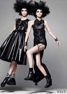 Photographed by David Sims, Vogue, March 2011 ( I feel justified when avi's feet are off the ground now!)