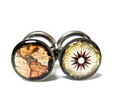 Double Sided Plugs Gauges 1/2 Surgical Steel by MizzMechanique