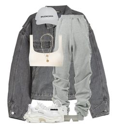 A fashion look from January 2018 by nyashaa featuring Yeezy by Kanye West YProject Balenciaga BP. and Christian Dior Chill Outfits, Cute Casual Outfits, Swag Outfits, Mode Outfits, Retro Outfits, Look Fashion, Teen Fashion, Korean Fashion, Fashion Outfits