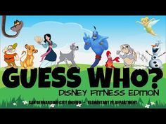 Elementary Physical Education, Physical Activities For Kids, Elementary Pe, Health And Physical Education, Exercise Activities, Exercise Videos, Fun Activities, Disney Games, Disney Day