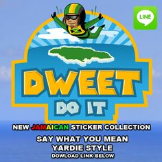 """DWEET"" from the iRIE iDRIN digital sticker collection. (Now available for Line messenger) Facebook: iRIE iDRIN Download: http://line.me/S/sticker/1010292 #reggae stickers #rasta stickers #ragga"