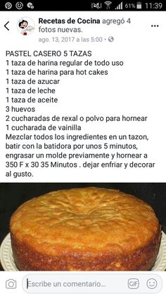 Mexican Sweet Breads, Mexican Food Recipes, Sweet Recipes, Dessert Recipes, Delicious Desserts, Yummy Food, Flan Recipe, Homemade Dinner Rolls, Pineapple Upside Down Cake