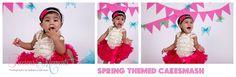 Spring themed Cakesmash #newbornphotographer #newbornphotographers #brampton #bramptonnewbornphotographer #bramptonnewbornphotography #newborn #baby #babyphotographer #baby boy #babygirl #torontophotographer #mississauga #preciousmomentsphotographybynatashasamaroo #pmpbyns #photography #photographer #cakesmash #babysfirstbirthday #jazcakes #cakesmashphotographer #bramptoncakesmash