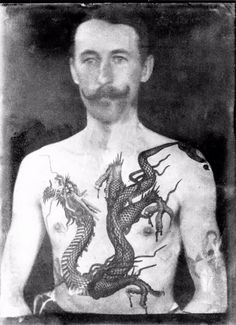 Victorian pictures always show stern-looking faces with people covering their bodies from head to toe in long clothes. But vintage images have revealed how some people living in 19th century Britain had a love of huge tattoos covering their entire chests and arms. And all of the pictures from the Vi