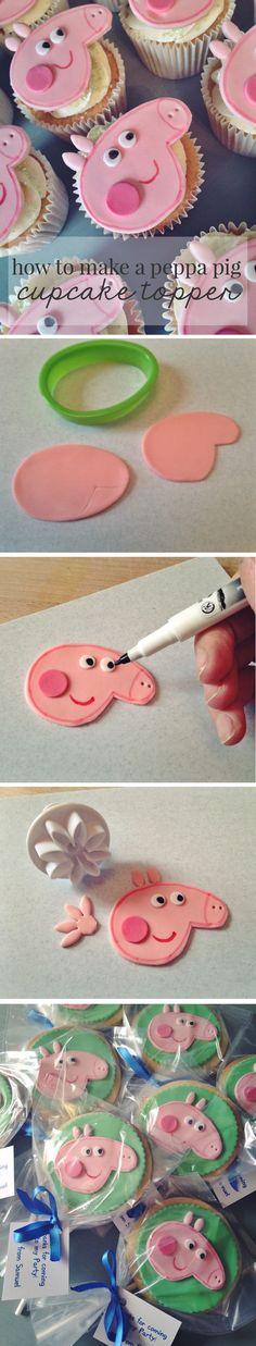 How to make a Peppa Pig Cupcake Topper - Gym Bunny Mummy @gymbunnymum