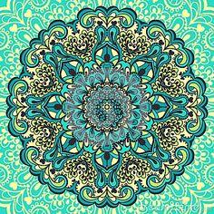 Flower Mandala. Abstract Element For Design Stock Vector - Image ...